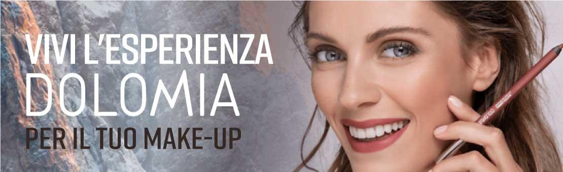 Vivi l'esperienza Dolomia per il tuo make-up